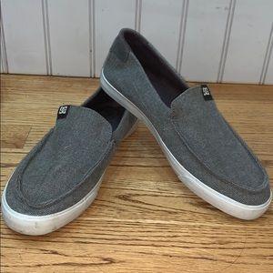 DC Gray Tweed Slip-Ons
